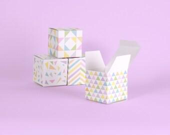 Lucky Dice Favor Box Template, Printable, Las Vegas Party Favor ...