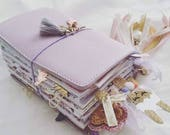 Lilac Leather Traveler's Notebook Cover NAYAdori /Midori style notebook cover/ Leather Journal / Fauxdori- Wide Fit