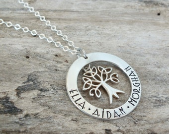 Sterling Silver Tree Necklace | Tree of Life | Family Tree | Birthday Gift | Grandmother's Gift | Mother's Gift