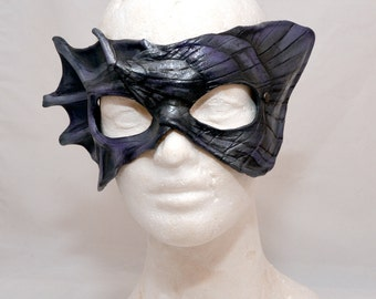 Leather River Naiad Sprite Oyster Mussel Shell Half Mask Masquerade Original Cosplay