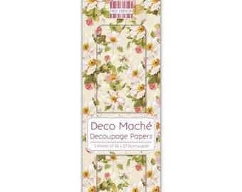 FLORAL DECOUPAGE PAPER, Vintage Floral Decoupage Paper, Deco Mache, Vintage Decoupage Paper, Mixed Media Paper, Decoupage, Decoupage Papers