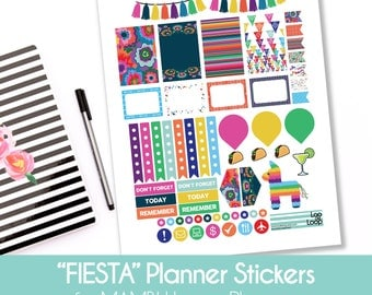 FIESTA Planner Stickers MAMBI Happy Planner for Cinco de Mayo