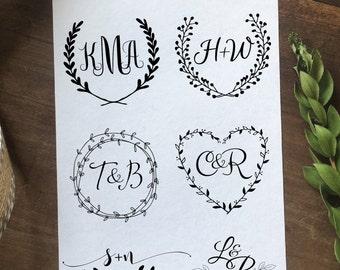 Custom Wedding Logo Design, Create Your Own One of A Kind  Personalized Wedding Logo, Wedding Branding, Small Business Branding