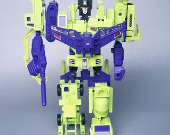 Vintage G1 Transformers Devastator Constructicons 99% Complete C8 Nice