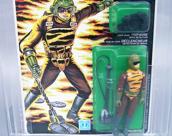 Vintage GI Joe 1989 Tiger Force Tripwire AFA Graded 85 Near Mint Hasbro Canada