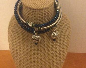 Memory wire wrap bracelet