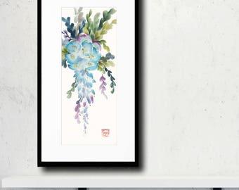 Wisteria in Bloom Original Chinese Brush Painting