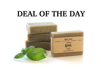 Basil Soap, All Natural Soap, Unscented Soap, Soap, Vegan Soap,  Men Soap