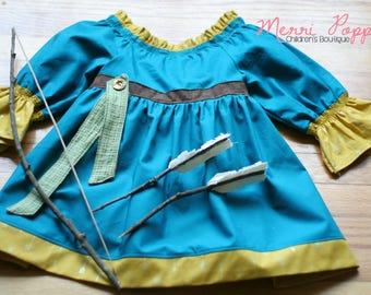 Brave, Merida Inspired dress up, Every day play wear, Handmade, gift for girls