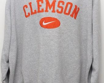 "Rare 90's Vintage Nike Team ""CLEMSON TIGERS"" Sweatshirt Sz: MEDIUM (Exclusive)"