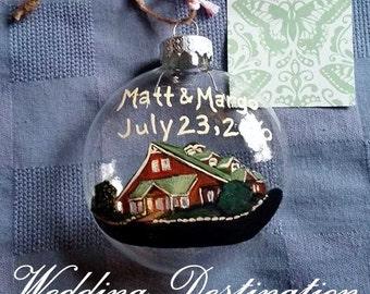 Anniversary and Wedding  Gift Destination Ornament