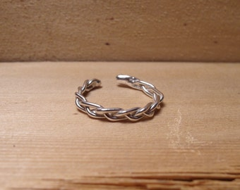 Sterling Silver Adjustable Braid Ring