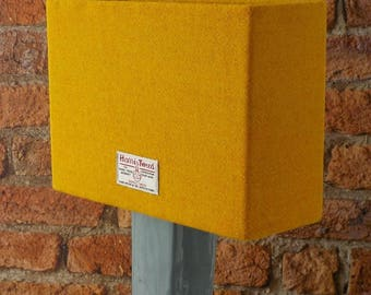 Harris Tweed Lampshade Orange Yellow Handwoven British Wool Fabric Rectangular  Table Lamp Shade