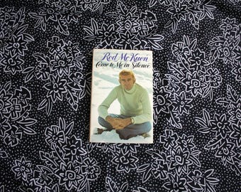 Rod McKuen Poetry Book. Come To Me In Silence By Rod McKuen 1973 Rare Hippie Hippie Folk Poetry Hardcover Book.