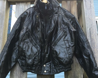 VNTG real leather tuff guy jacket 80s 90s