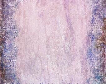 Digital Texture: Antique Lace Texture in Lavender PNG