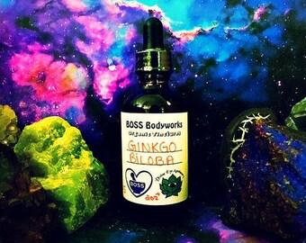 Organic GINKGO BILOBA Tincture - 1oz. 2oz, 4oz - Herbal Extract, gluten free, kosher, fair trade