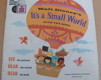 Vintage Walt Disney IT'S a SMALL WORLD Book/Record Read-Along #323~33 1/3 Rpm
