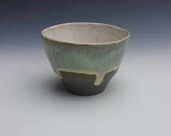 Charcoal Gray Porcelain Espresso cup, demitasse cup, tea bowl, punch cup