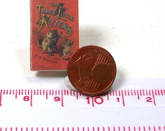 1228# Children's Book:  Three little kittens - doll house miniature - in scale 1/12