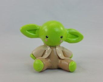 Polymer clay inspired Yoda figurine