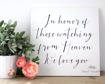 In Loving Memory Wedding Sign / Wedding Memorial Sign - WS-237