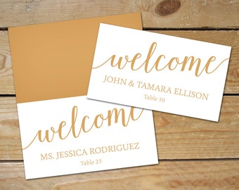 Printable place card | Etsy