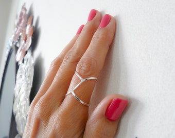 Sterling Silver Ring//Adjustable Ring//Women Ring//Handmade Jewelry For Her
