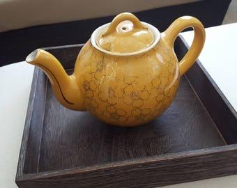 Vintage 1930s Bright Yellow Hall Teapot