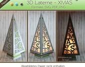 Plotterdatei - 3D Laterne XMAS /PM078
