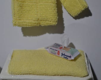 """1/12"""" scale Dolls house miniature wet wipes pack"""