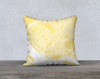 Seoul Map Pillow Cover