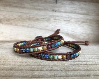 Mixed Picasso Single Wrap Bracelet