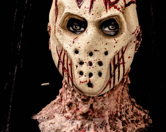 The Purge- Custom made latex mask altered with our Bloodlust designs