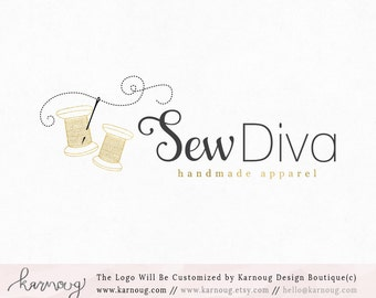 Sewing Logo Thread Logo Needle Logo Boutique Logo Premade Logo Watermark Logo Business Logo Branding Logo Custom Logo Logos and Watermarks