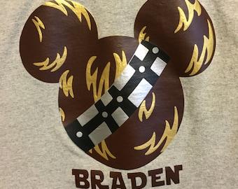 Youth- Star Wars Disney Chewbacca Mickey Shirt