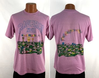 Vintage 1989 Ragbrai XVII - Iowa Bicycle Ride T-Shirt Large // 80s // 1980s // Cyclist // 50-50 // 27th // Fixies // Free Ride // Race