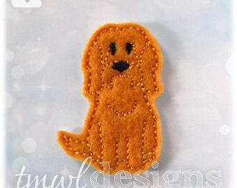 "Orphan Stray Otterhound Dog Feltie Digital Design File - 1.75"""