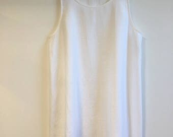 White Linen Plus Size Singlet Top