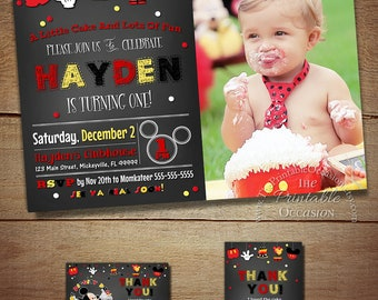 MICKEY MOUSE INVITATIONS, Mickey Mouse Birthday, Birthday Invitation, Mickey Mouse, Mickey Mouse Birthday Invitation, Chalkboard Invitation