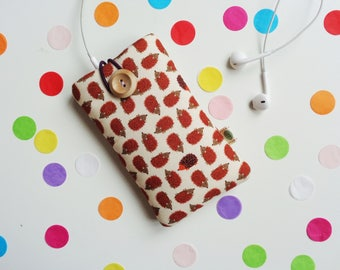 Hedgehog Cell Phone Cover, Android Phone Sleeve, Padded Phone Pouch, Smart Phone Cover, Glasses Case, iPhone, Samsung, Sony, Nokia, LC
