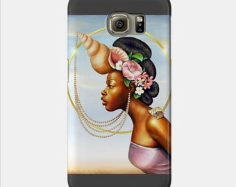 Cancer Samsung Galaxy Phone Case African American Zodiac Goddess Black Girl Magic  Afrofuturism