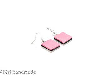 Liquorice Allsorts Candy Pink Earrings