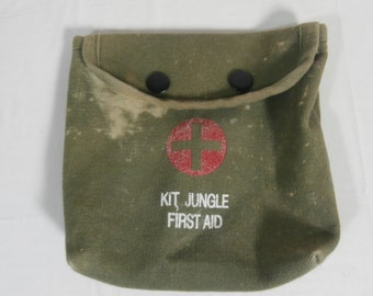 First Aid Kit Small Bag Used 100% Cotton 6X6 inches