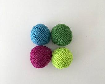 Assorted Catnip Ball Cat Toys-100% Wool (4/Package)