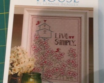 LIVE SIMPLY embroidery PATTERN by Leanne Beasley for Creative Card