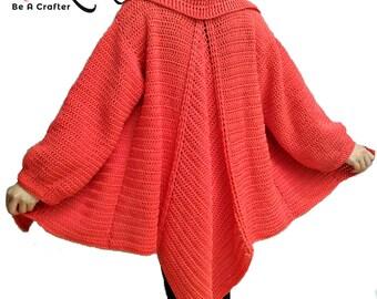 Crocheted Mountain Ridge coat - free worldwide shipping