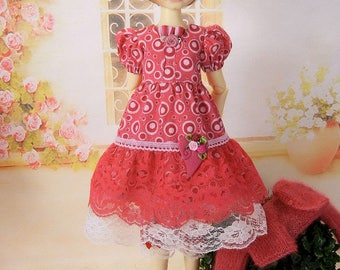 short sleeved dress outfit for MSD Kaye Wiggs girls such as Abby, Missy or Maurice girl, as well as 45 cm girls like Layla, Miki or Laryssa