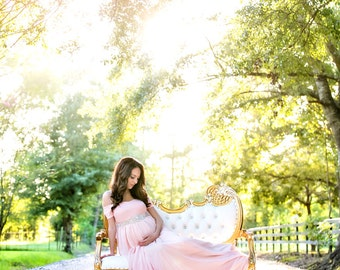 Long flowing maternity dress