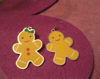 GINGER BREAD EARRINGS-Boy and Girl